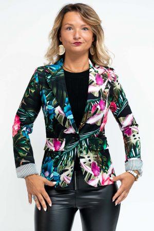 veste femme imprime fleuri