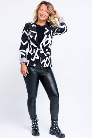 veste noir femme