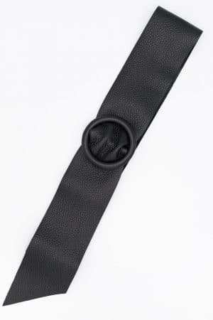 ceinture en cuir noir