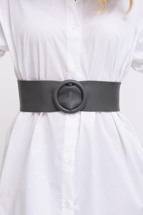 ceinture cuir grise