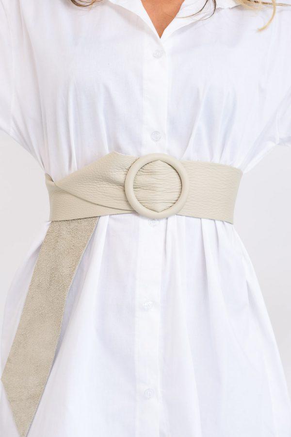 ceinture en cuir beige