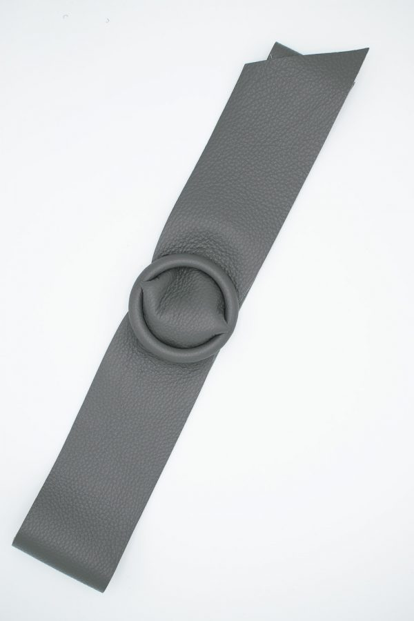 ceinture en cuir grise