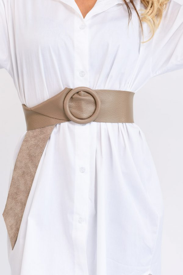 ceinture en cuir taupe