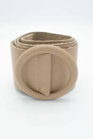 ceinture cuir beige