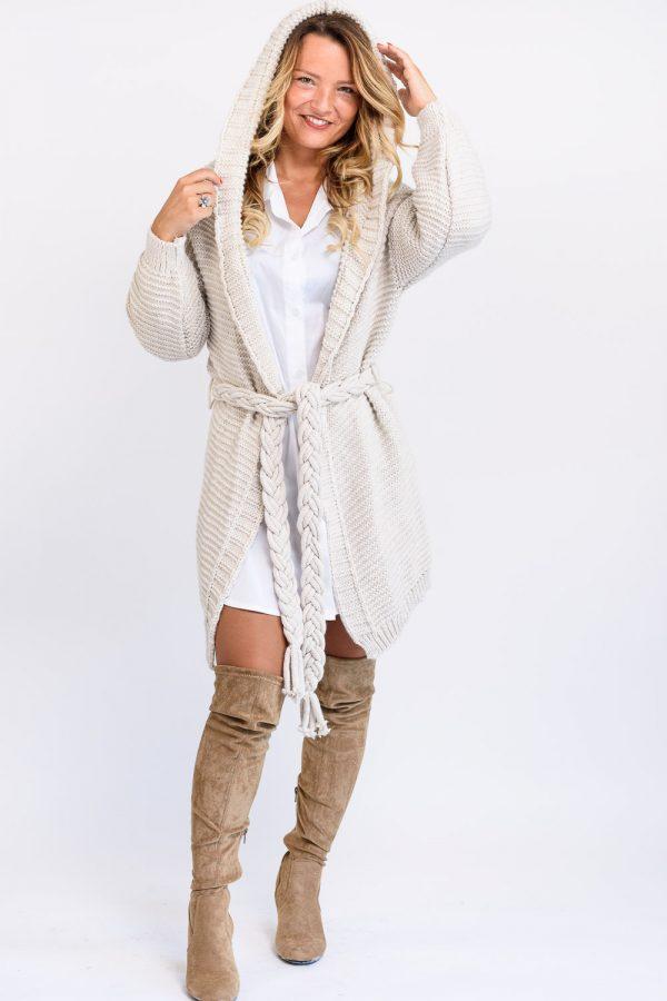 gilet long en laine femme