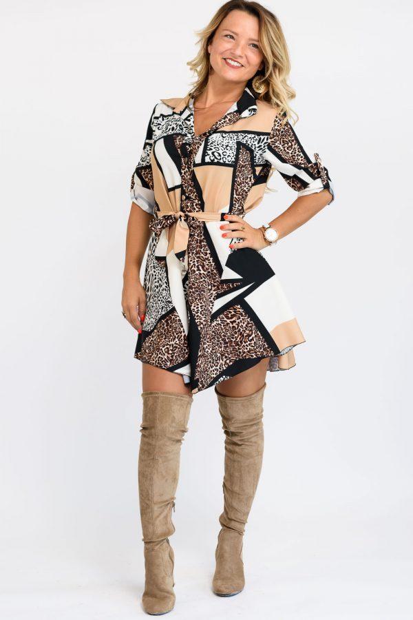 robe imprimee leopard