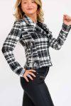 veste à carreau femme
