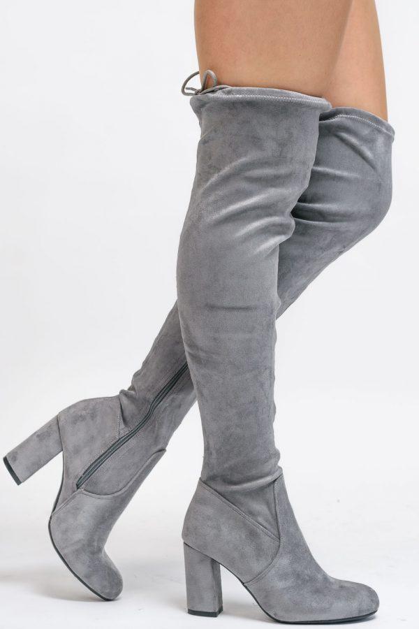 bottes grise femme