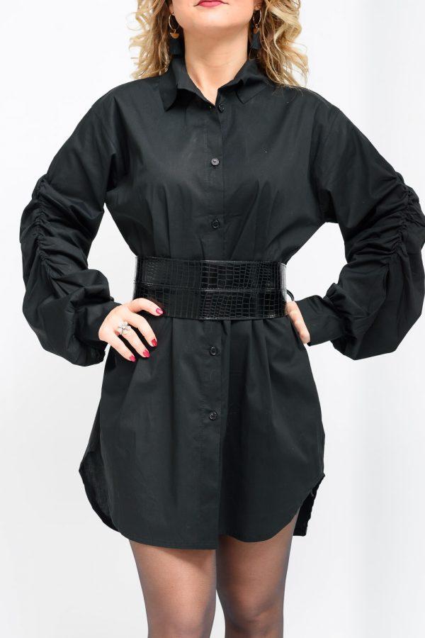 Robe Chemise Noire Robe Femme Girlyz Shop