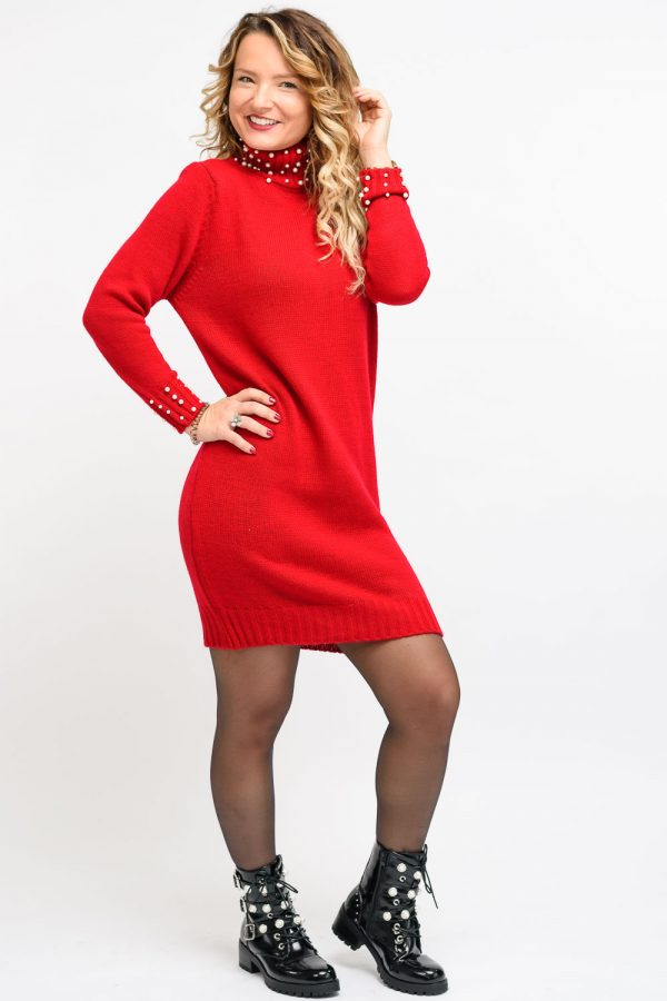 robe d'hiver rouge