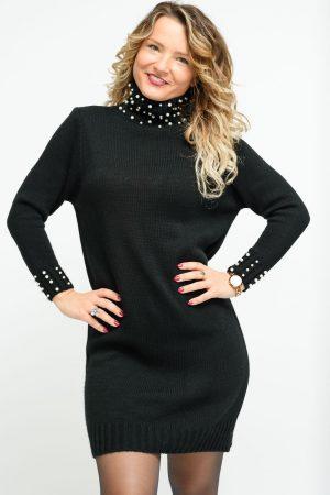 robe pull noir femme