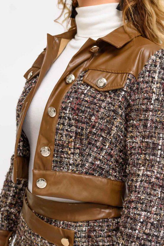 veste en tweed femme