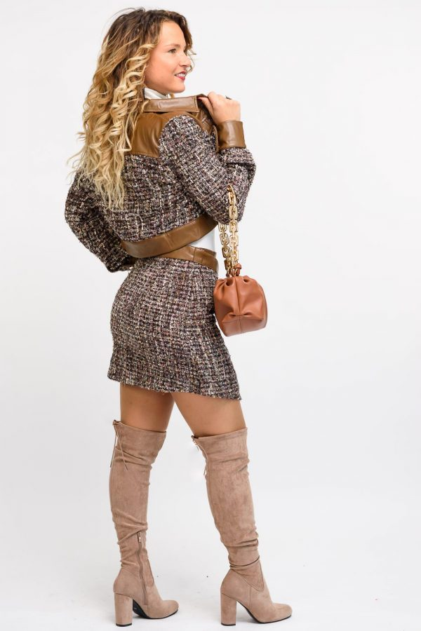 veste jupe assortie femme