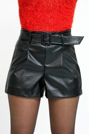 short simili cuir femme
