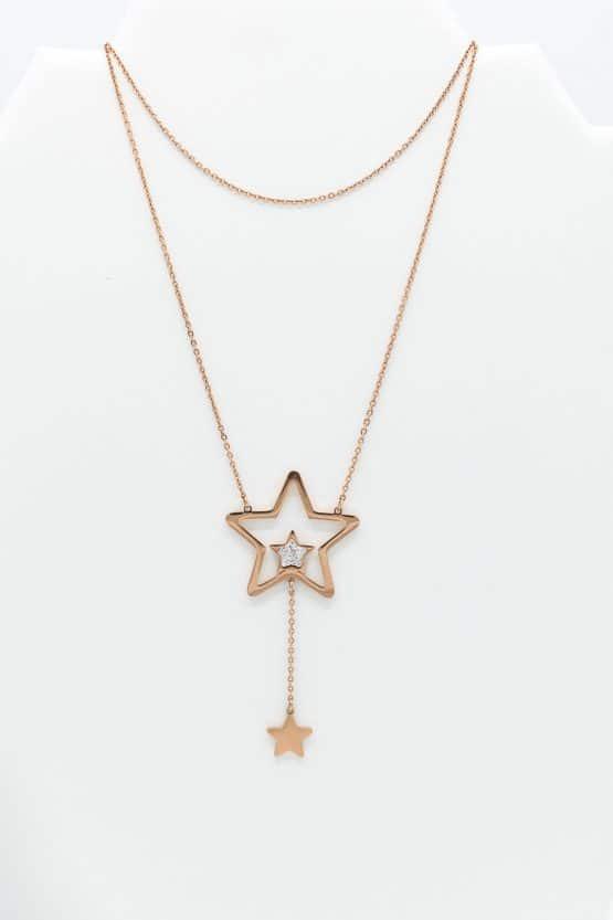 collier étoile femme
