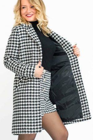 manteau pied de poule femme