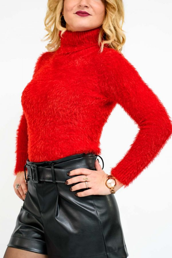 pull rouge femme