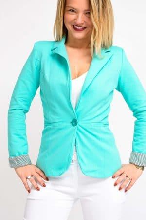 blazer turquoise femme