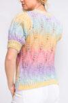 pull manche courte couleur pastel