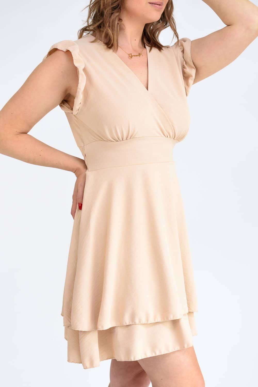 robe beige femme