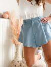 short bleu femme