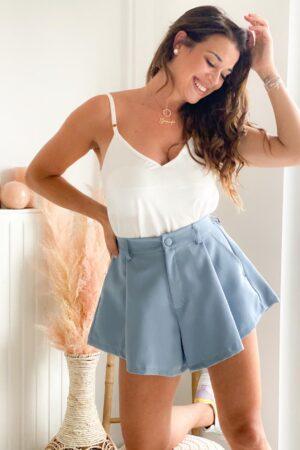 short tendance femme bleu