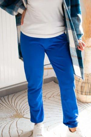 jogging bleu femme
