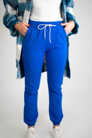 jogging unicolore femme bleu