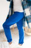 pantalon jogging bleu femme
