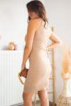 robe élégante beige femme
