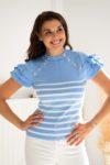 tee-shirt marin bleu femme