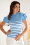 top marin bleu femme
