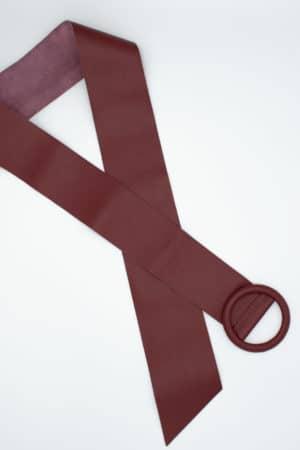 ceinture en cuir bordeaux